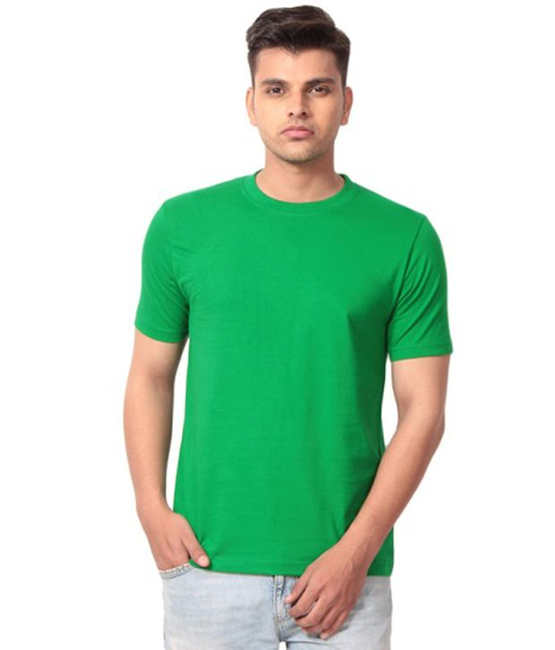 Debure Green Cotton Round Neck T Shirt