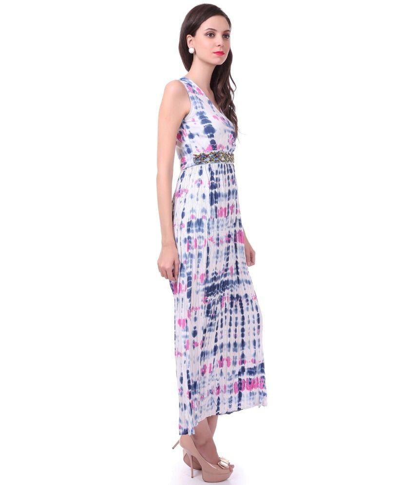 1da056985b SASSAFRAS Embellished Printed Maxi Dress SASSAFRAS Embellished Printed Maxi  Dress ...