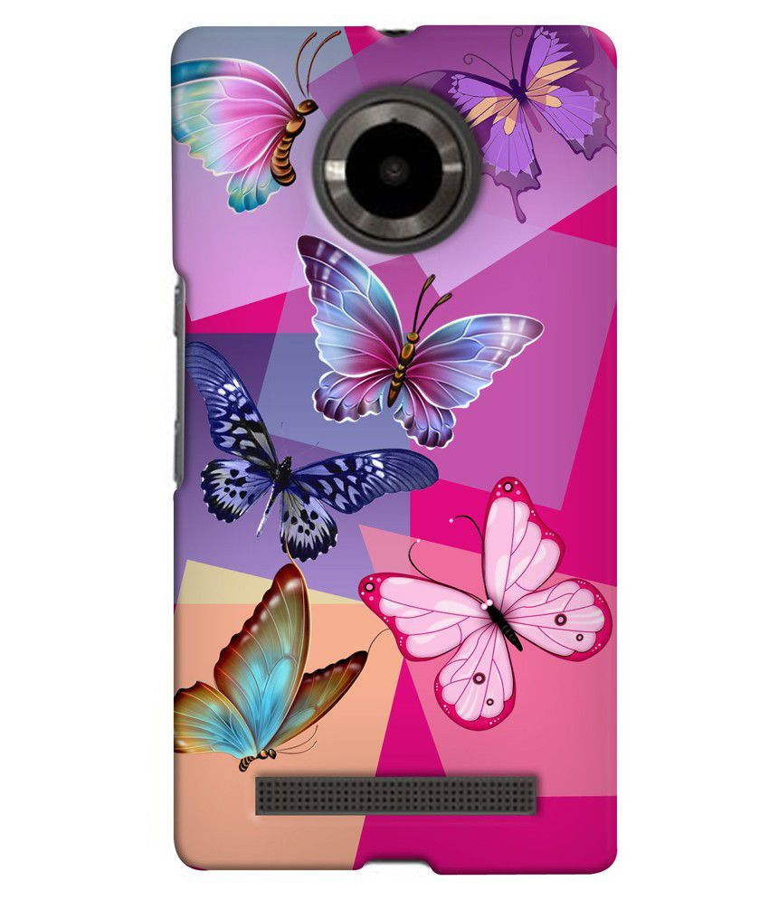 buy online de2f5 ea396 Snooky Back Cover for Micromax yu yuphoria Pink