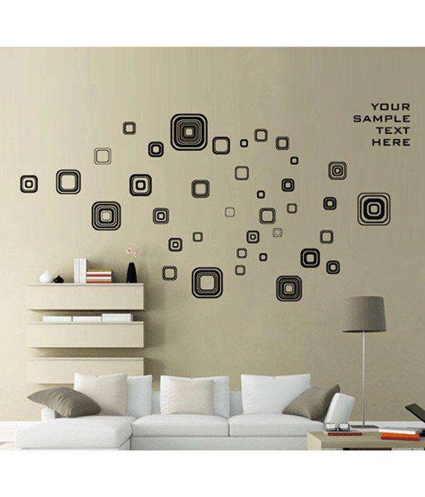 Studio Briana Floating Art Deco Squares Wall Art Sticker - Buy ...