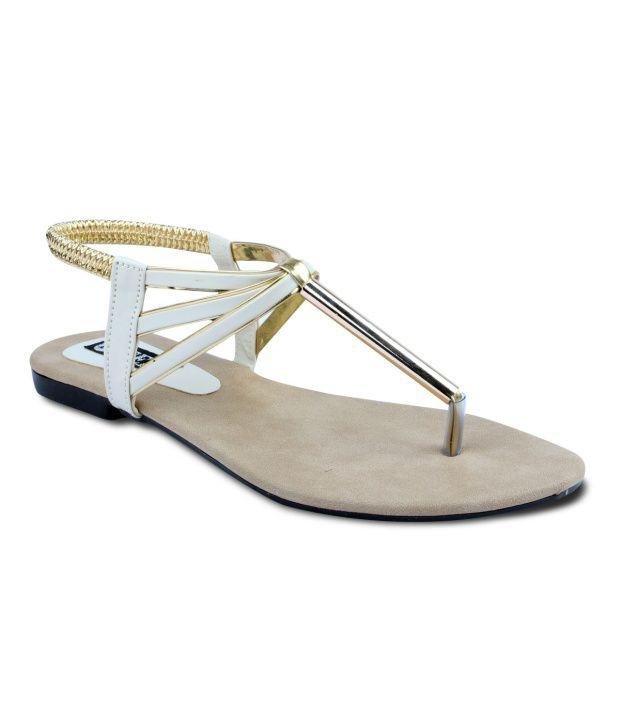 TEN White Sandals