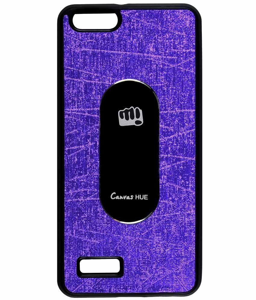 Casotec Tpu Back Case Cover For Micromax Canvas Hue Aq5000 - Purple