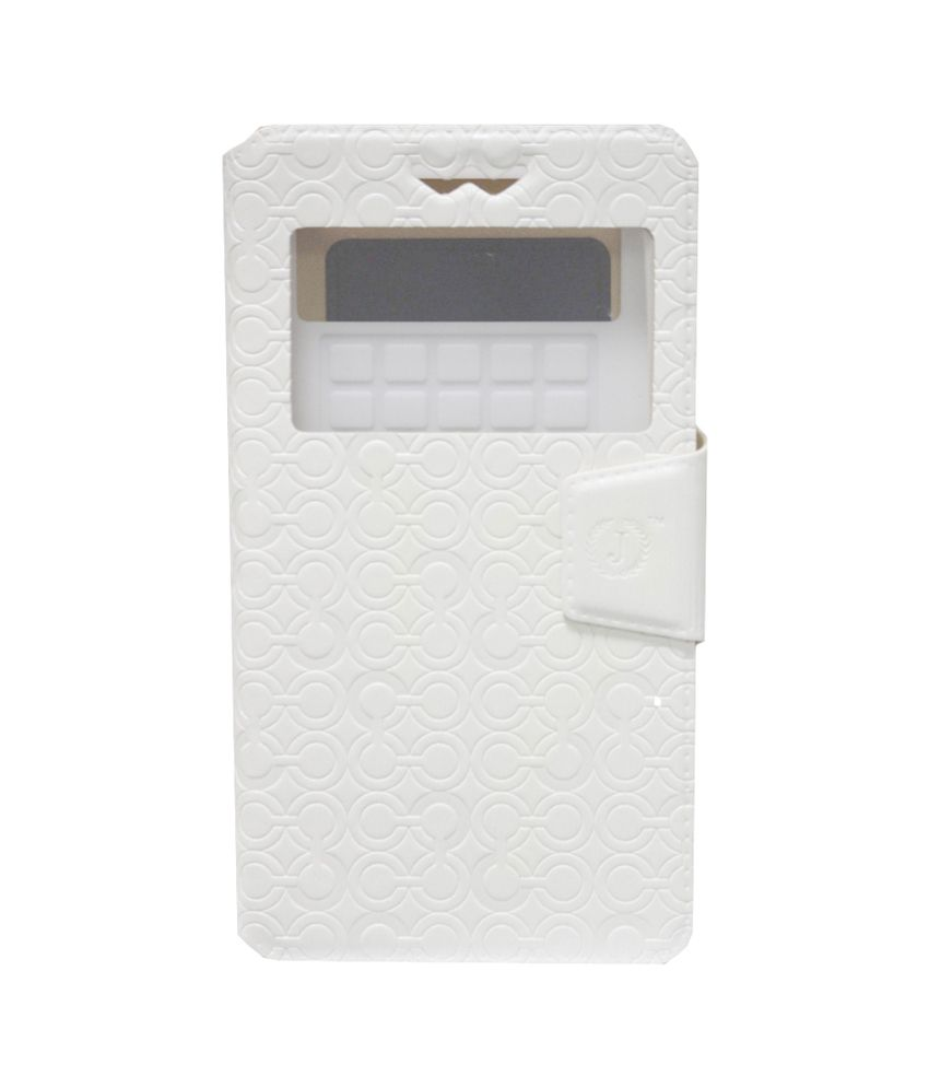 Jo Jo Flip Cover For Spice Coolpad 2 Mi496 White available at SnapDeal for Rs.590