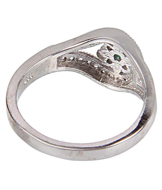 Define Jewellery 92.5 Silver Stone Ladies Fancy Ring