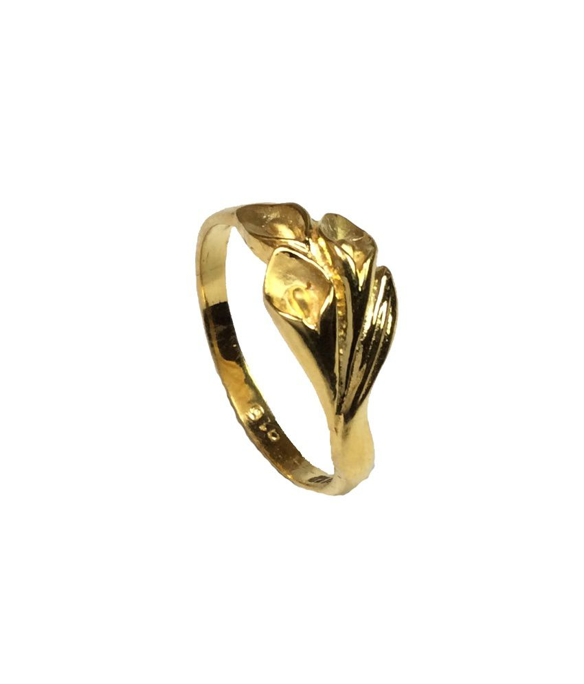 Kataria Jewellers 22KT Gold Floral Ladies Ring