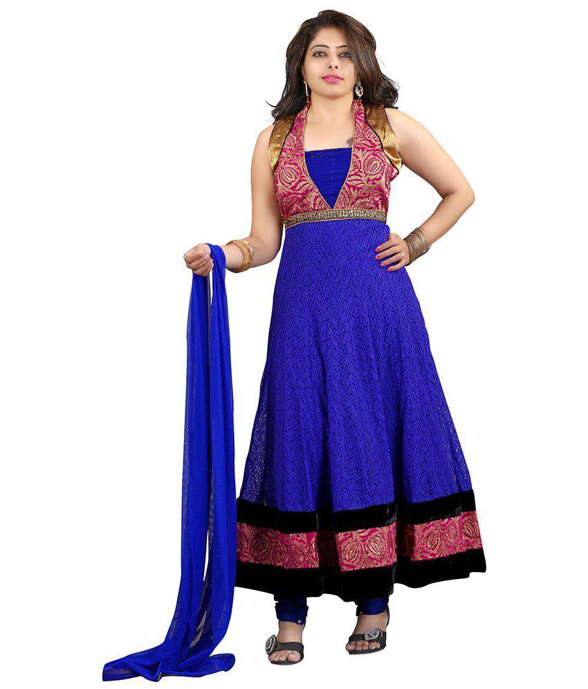 Laadki Purple Net Stitched Suit