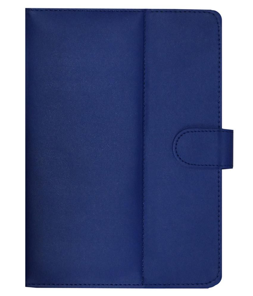 ACM Leather Flip Flap Tablet Holder Carry Case Stand Cover For Dell Venue 8 Voice tab Blue