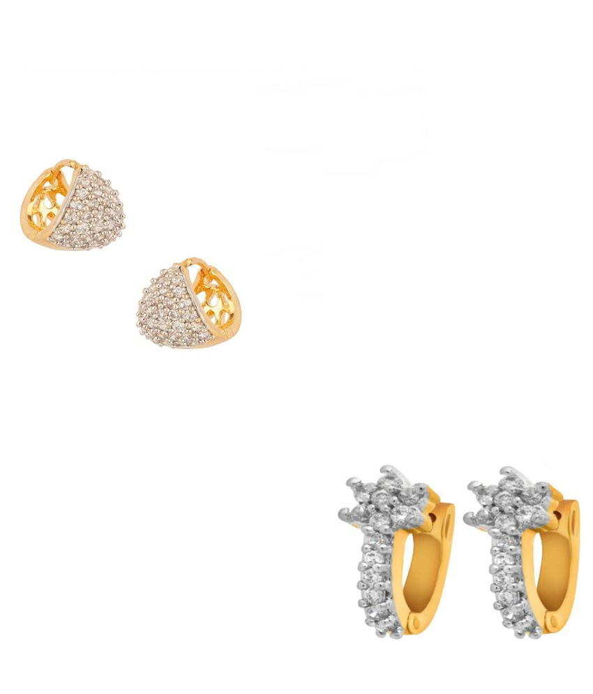 Jewels Galaxy Exclusive Collection Of Fancy Ad Bali Earrings - Combo Of 2
