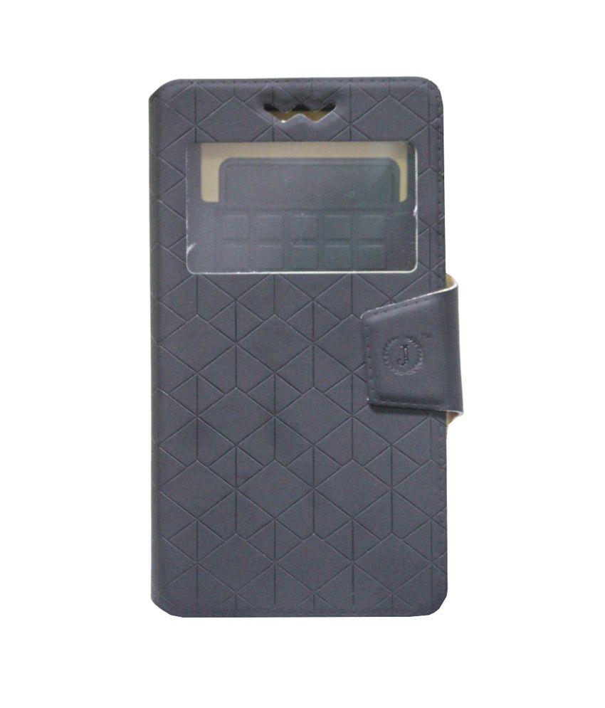 Jo Jo Synthetic Flip Cover For Motorola Atrix 2 - Black