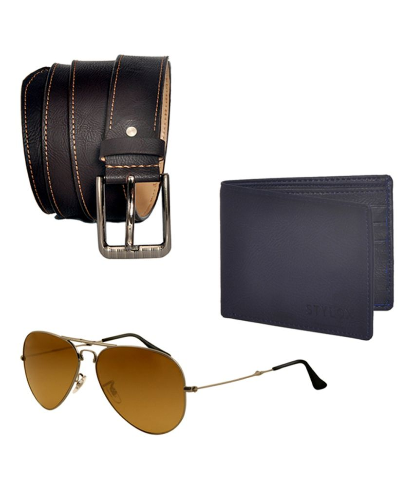 Stylox Combo Of Belt, With Wallet And Sunglass