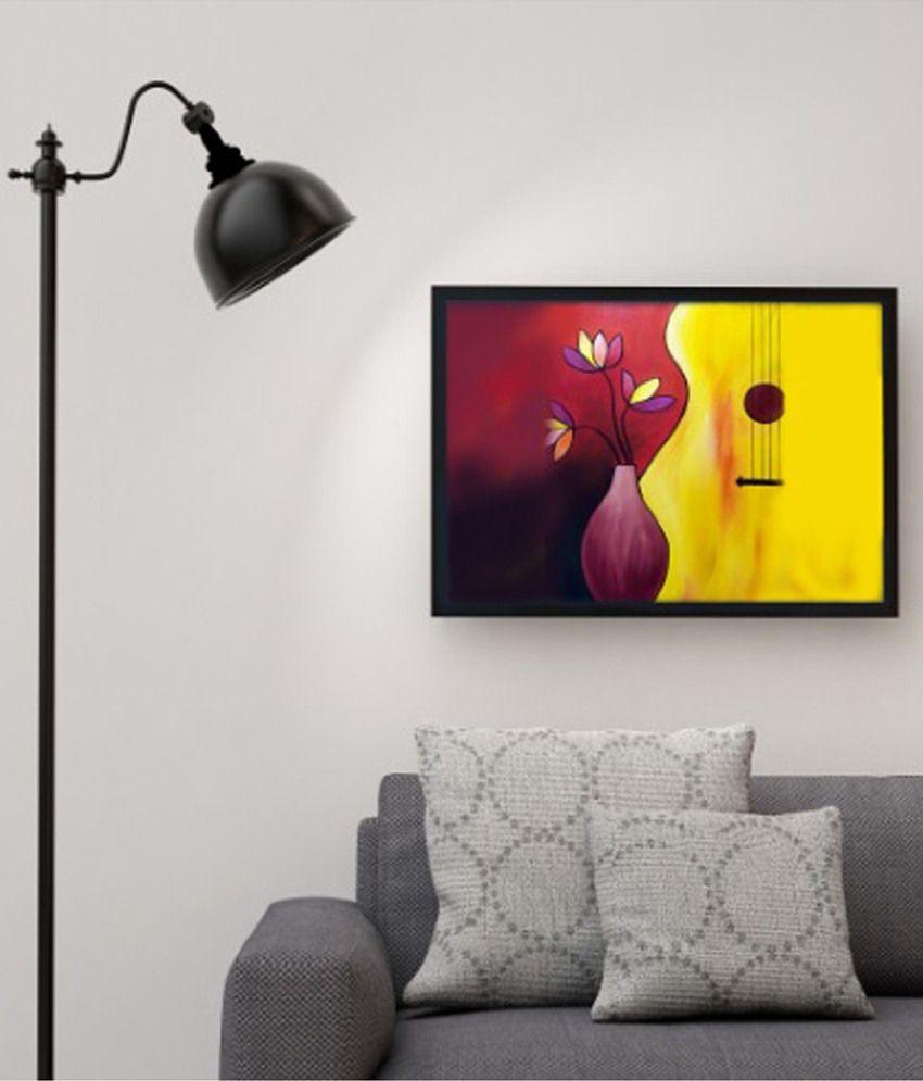 Deepika Creation Multicolour Acrylic Painting With Frame
