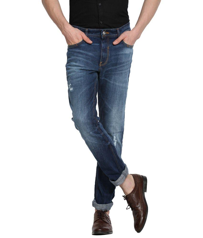 Locomotive Comfy Blue Slim Fit Jeans for Men