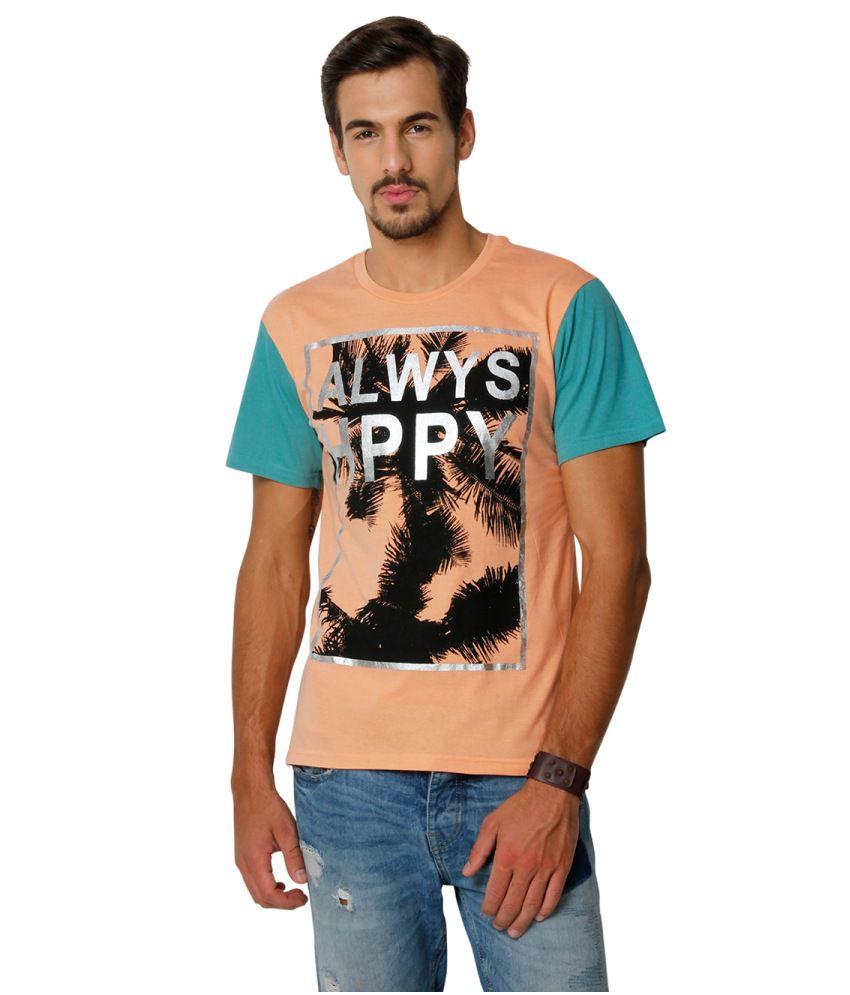 Yepme Orange Cotton T-shirt