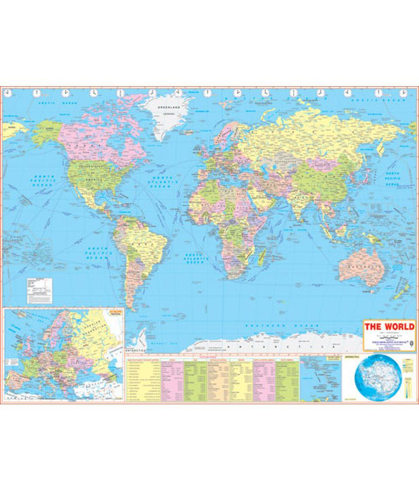 Ibd world large political map buy online at best price in india ibd world large political map gumiabroncs Gallery