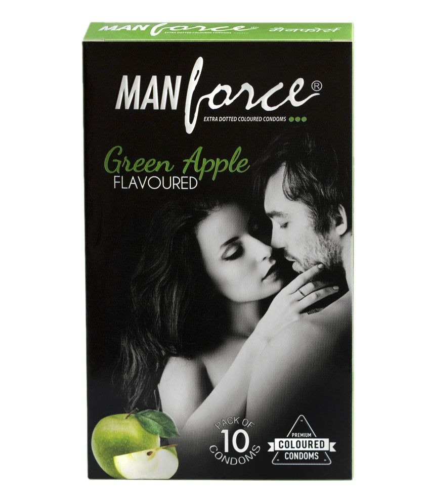 manforce green apple flavour condoms pack of 10 set of 3