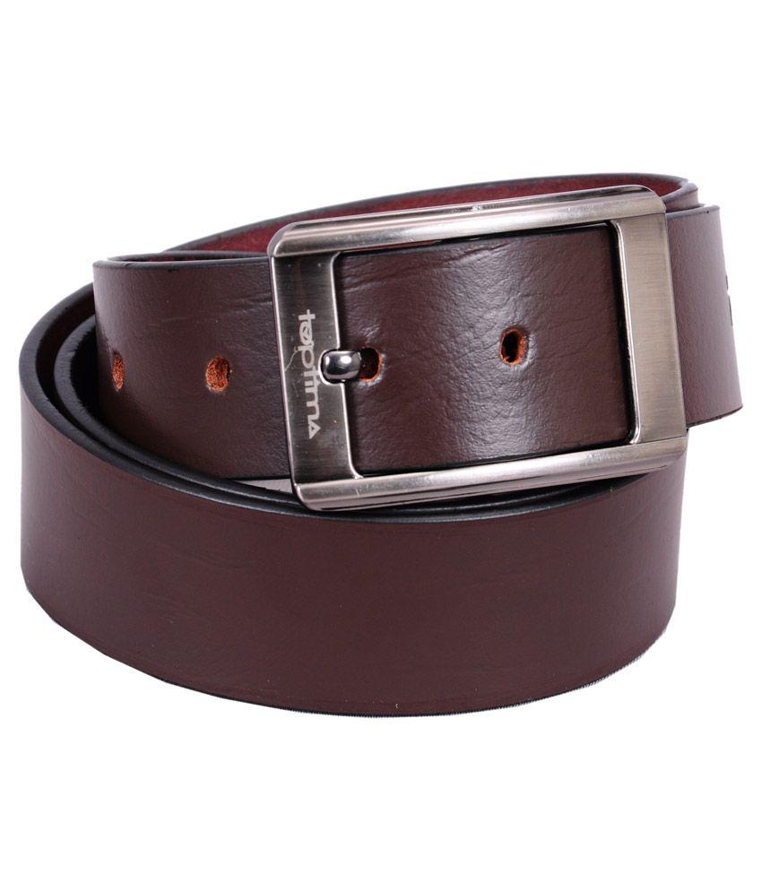 Toptima Brown Leather Formal Belt