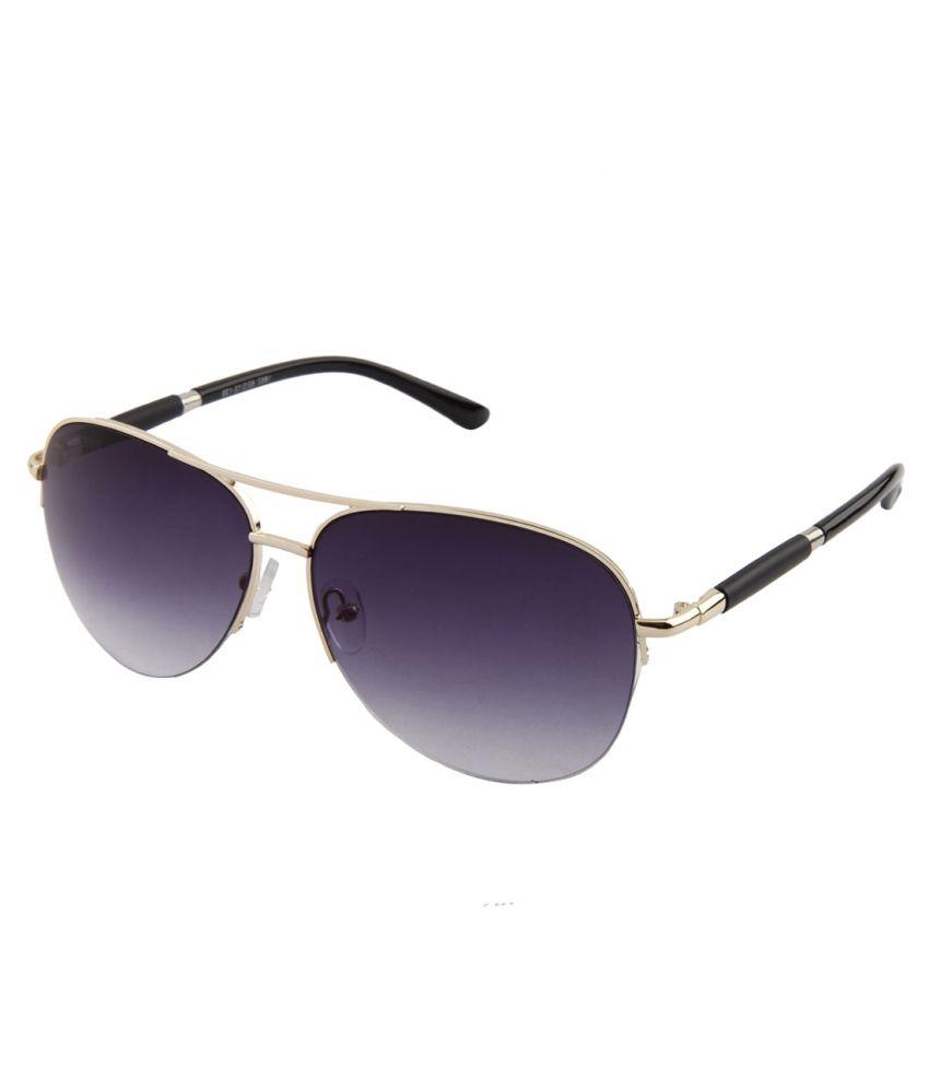 Voyage Purple Medium Unisex Aviator Sunglasses