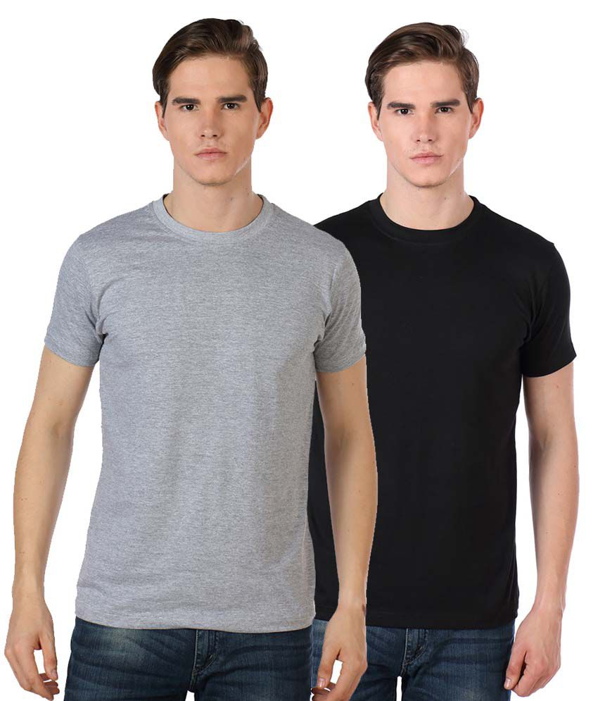 Billy Buddha Multicolor Cotton T Shirt - Pack Of 2