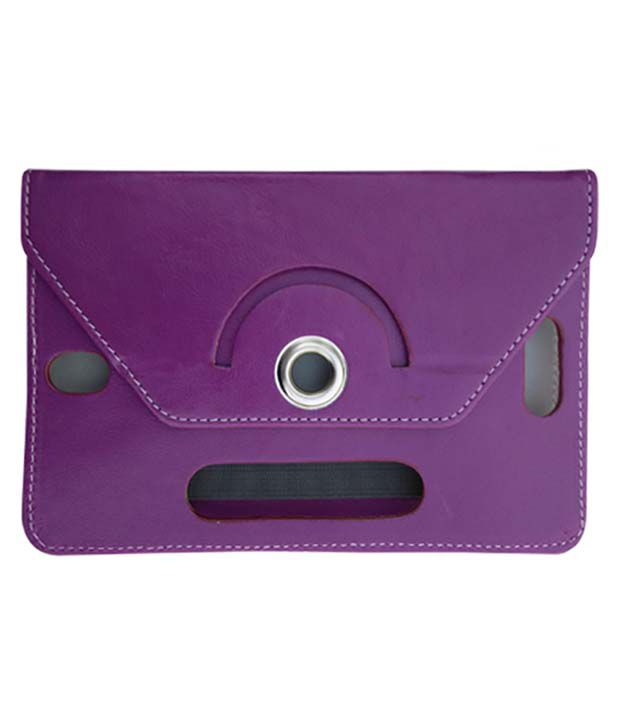 Fastway Leather Flip Stand Cover For Aocbreeze Mg70dr-8 -Purple