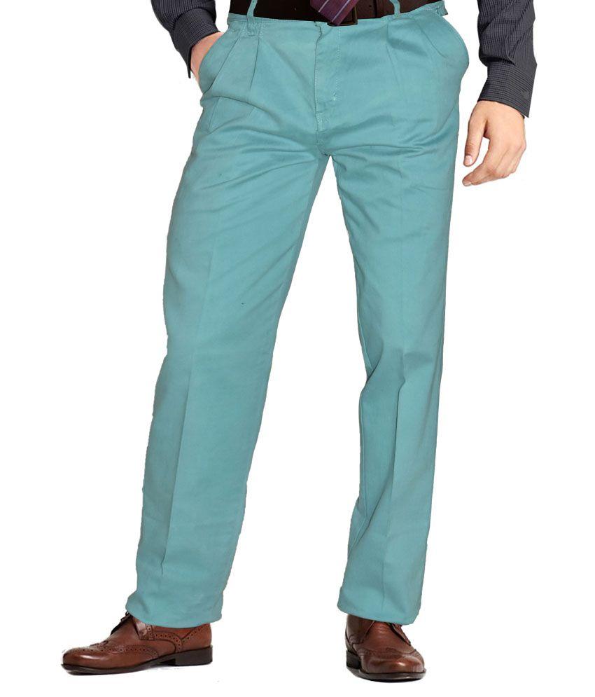 Hartmann Turquoise Slim Formals Pleated