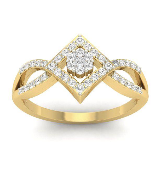 Jewels5 18Kt Gold Ahane Diamond Ring