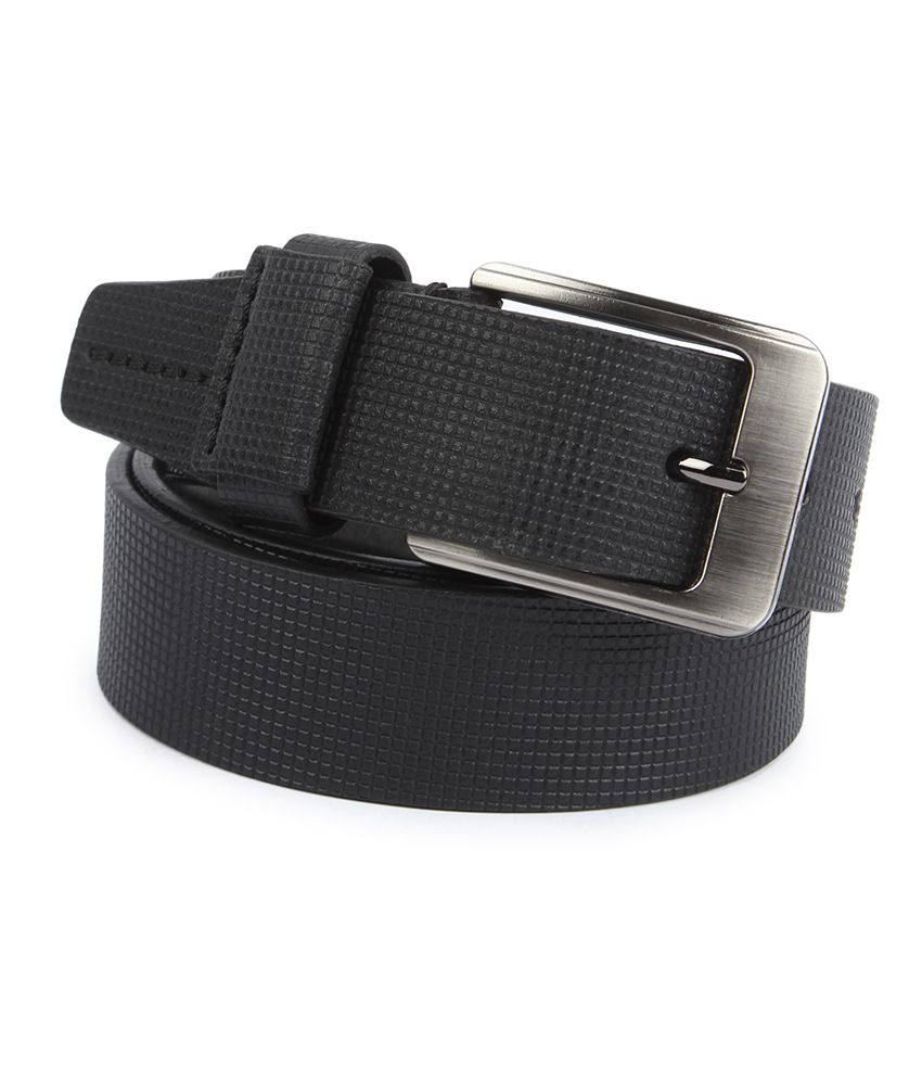 Waist Wire Black Leather Pin Buckle Belt For Men