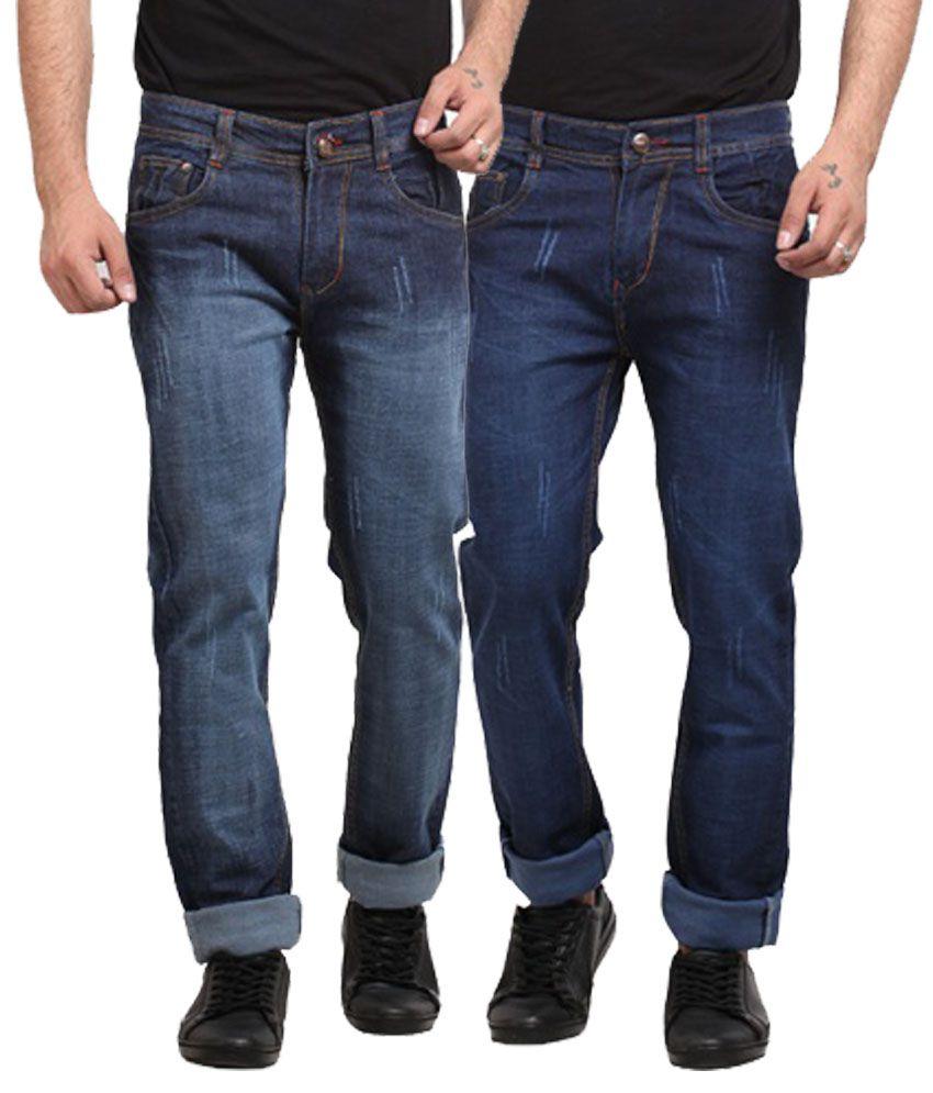 X-Cross Cotton Blend Regular Fit Jeans - Pack Of 2