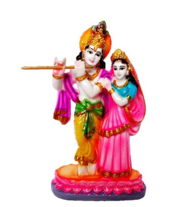 Mannarsh Crafts Matte Resin Radha Krishna Idol