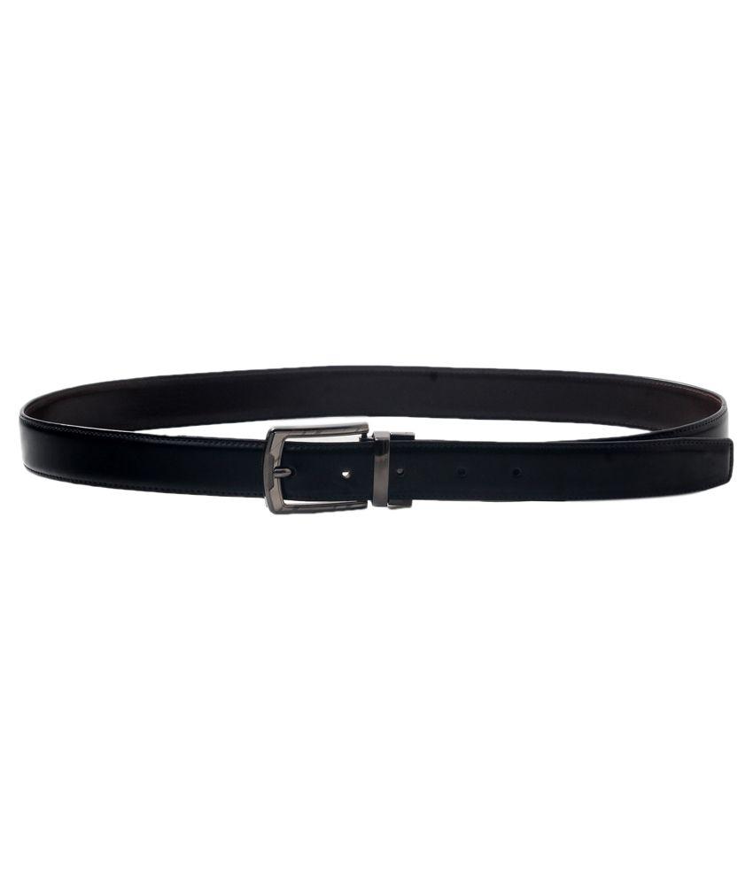 VSI Brands Black Pin Buckle Leather Belt
