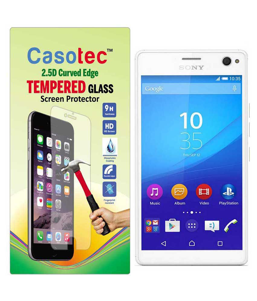 Sony Xperia C4 Tempered Glass Screen Guard By Casotec