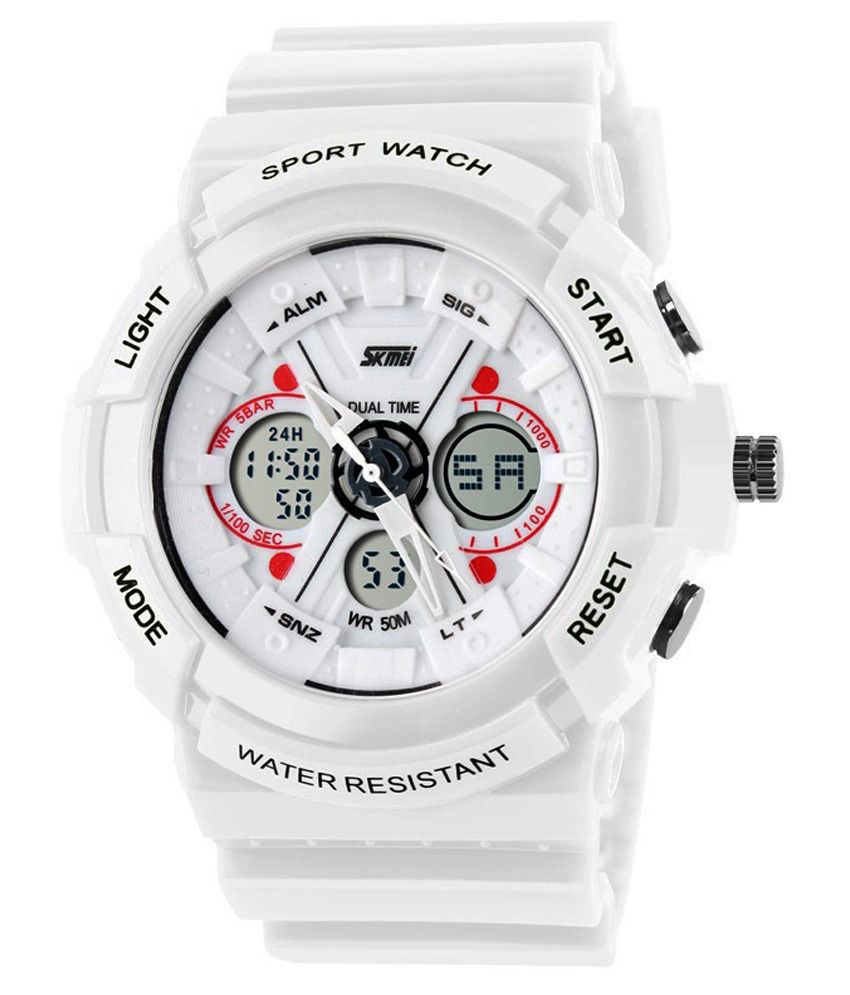 fd8bda0d6 Skmei White Analog-Digital Sports Watch - Buy Skmei White Analog-Digital Sports  Watch Online at Best Prices in India on Snapdeal