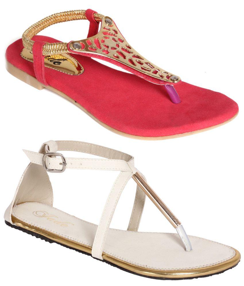 Jade Flat Sandals Combo