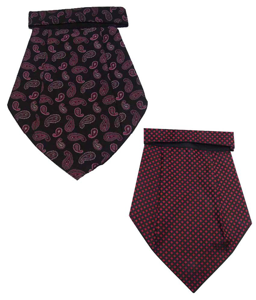 Leonardi Winsome Pack of 2 Red & Purple Cravats for Men