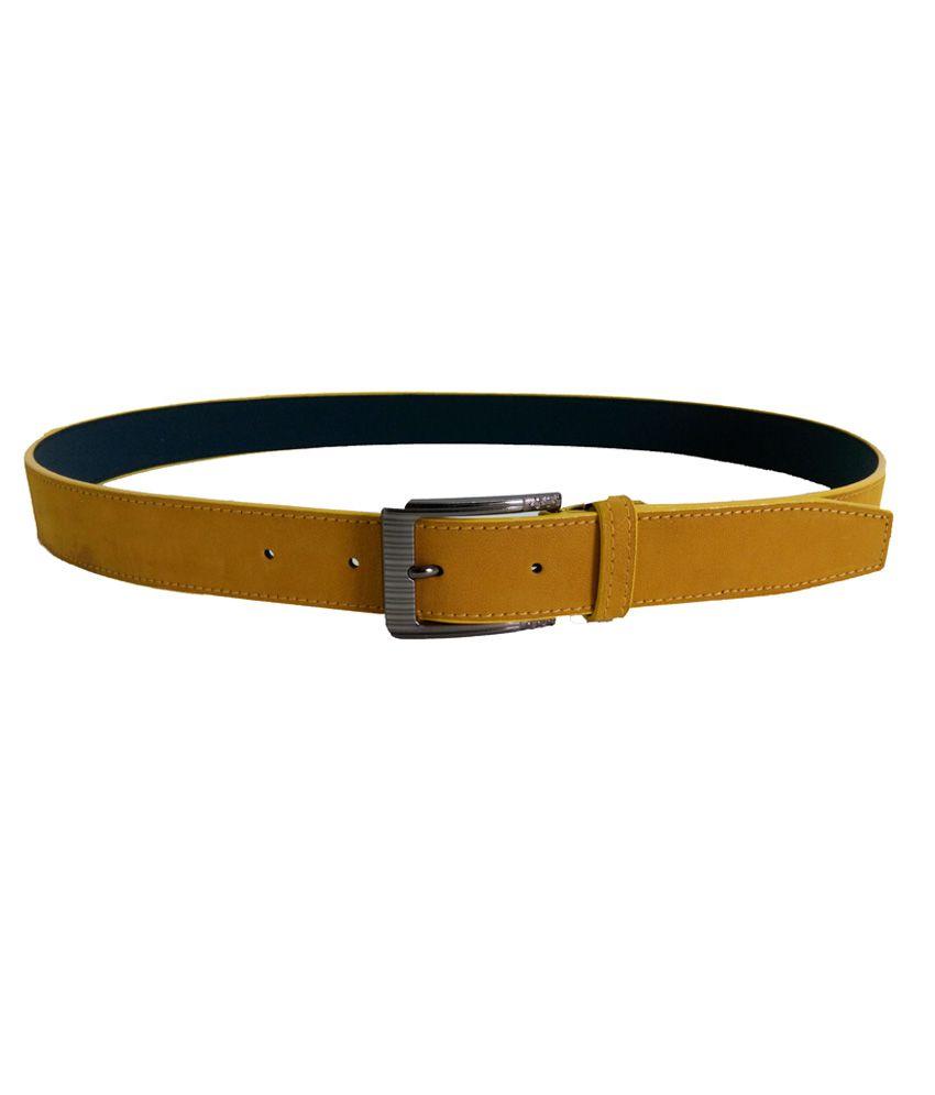 Aliworld Yellow Casual Single Belt For Men