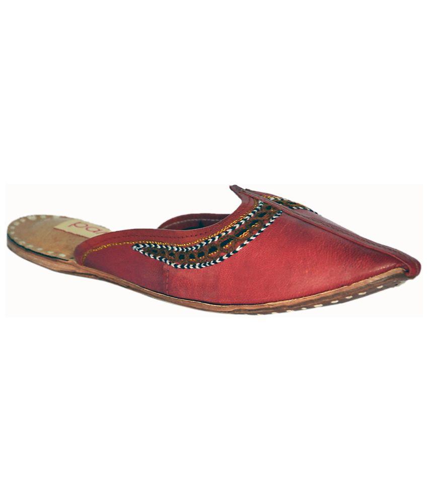 Cobbler Club- Bawri Red Ethnic Footwear
