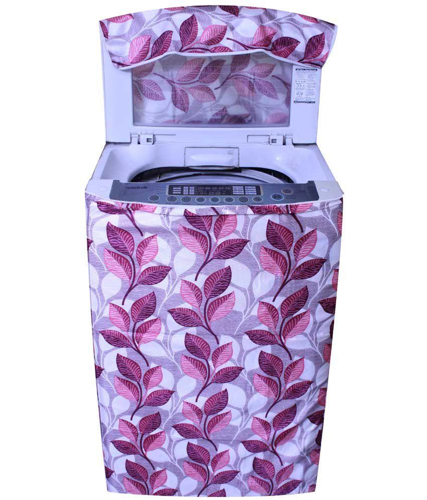 E Retailer S Pink Big Leaves Design Top Load Washing