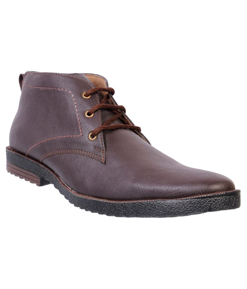 Frumoz Brown Leather Boots