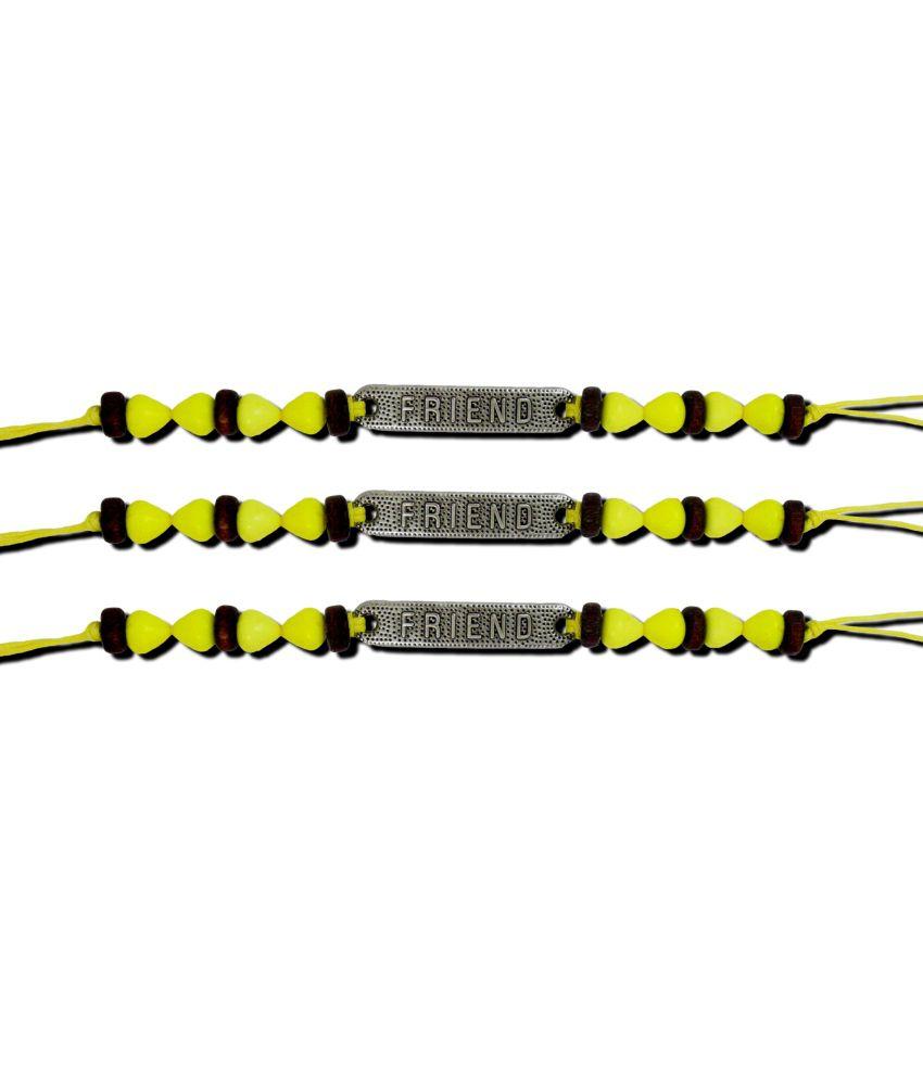 Get Fatang Circle Of Life Yellow Friendship Band Bracelet Combo