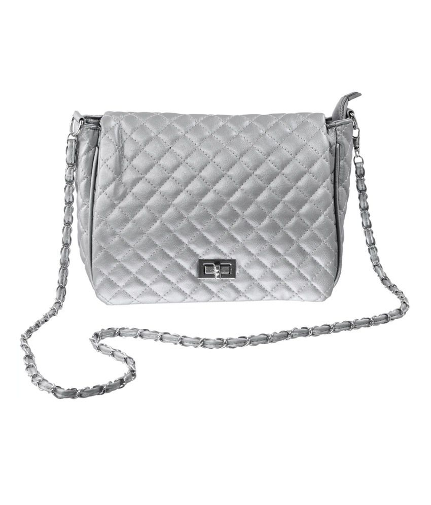 Lee Italian Silver Sling Bag - Buy Lee Italian Silver Sling Bag ...