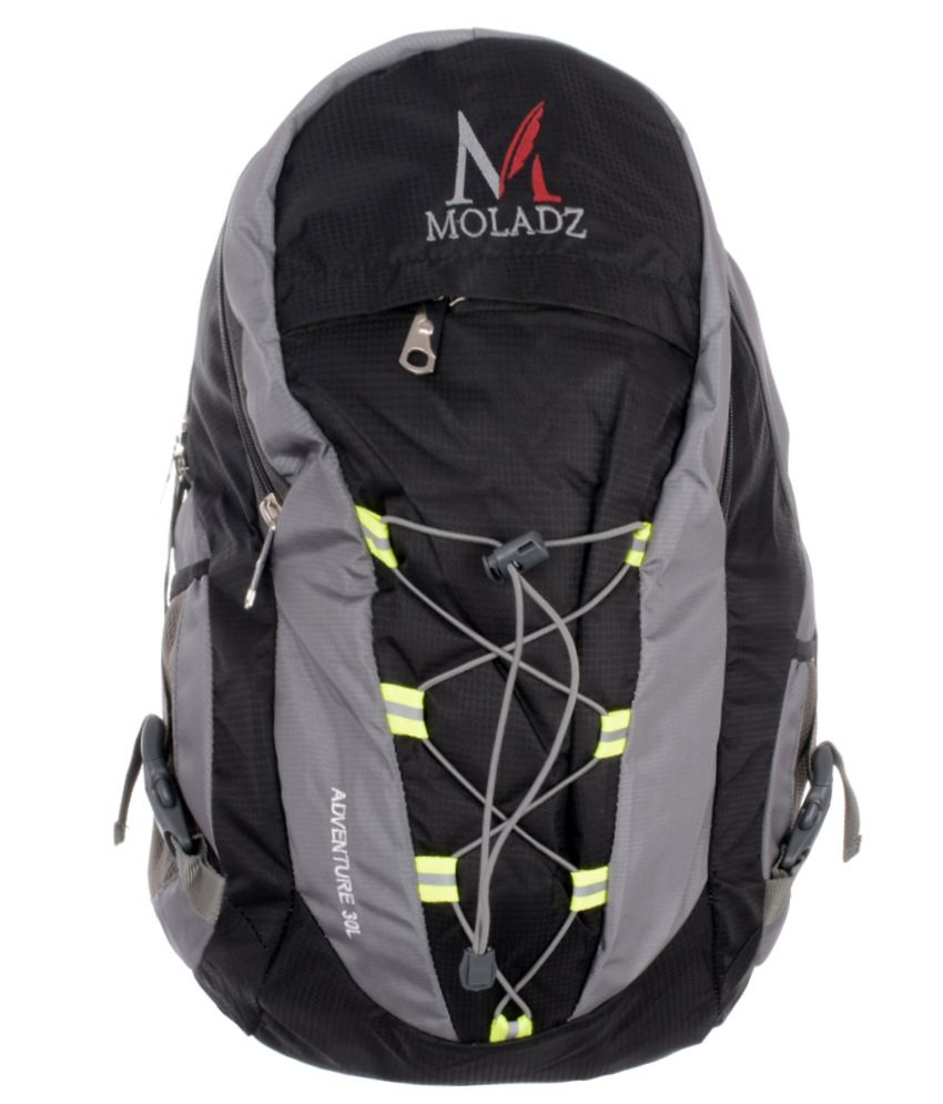 Moladz Black Polyester Laptop Backpack