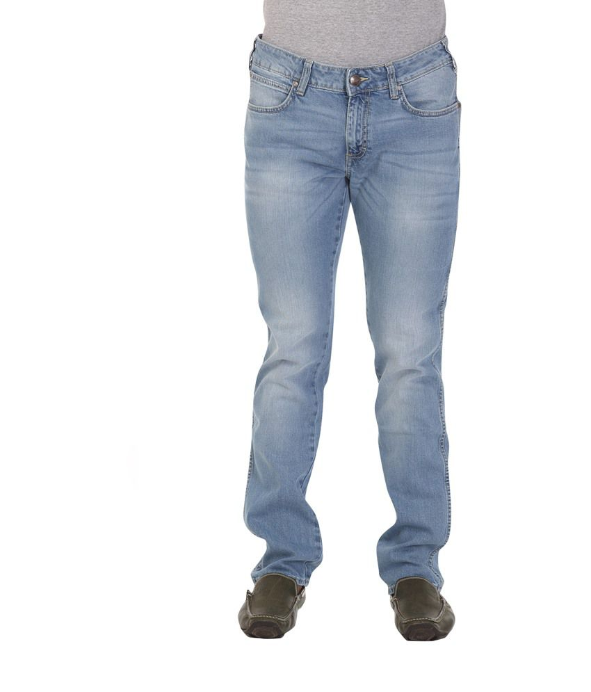 Wrangler Blue Cotton Jeans