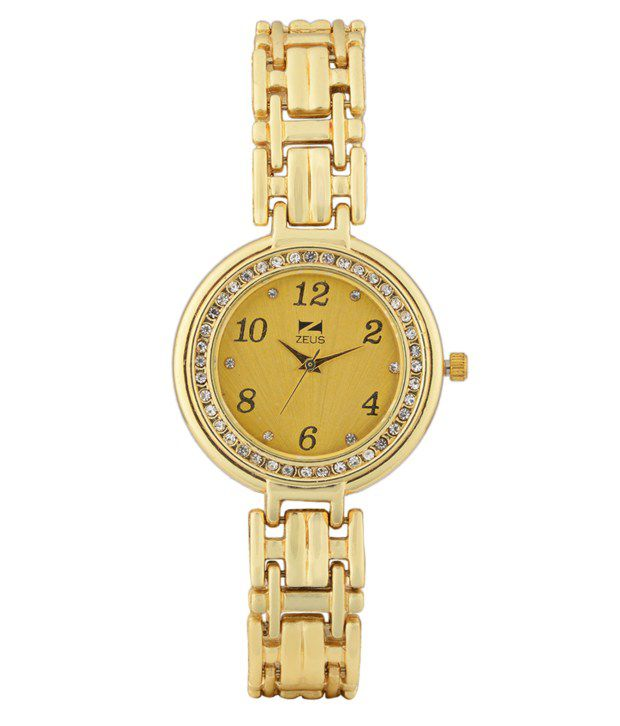 Zeus Gold Metal Women Watches