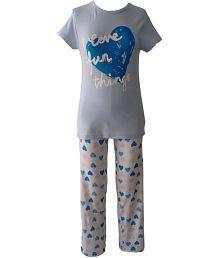 Sweet Dreamers Blue Cotton Top And Pyjama Set