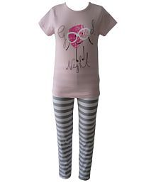 Sweet Dreamers Pink Cotton Top And Pyjama Set