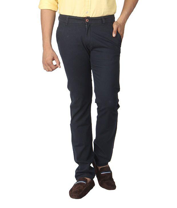 Aroa Black Cotton Lycra Trouser