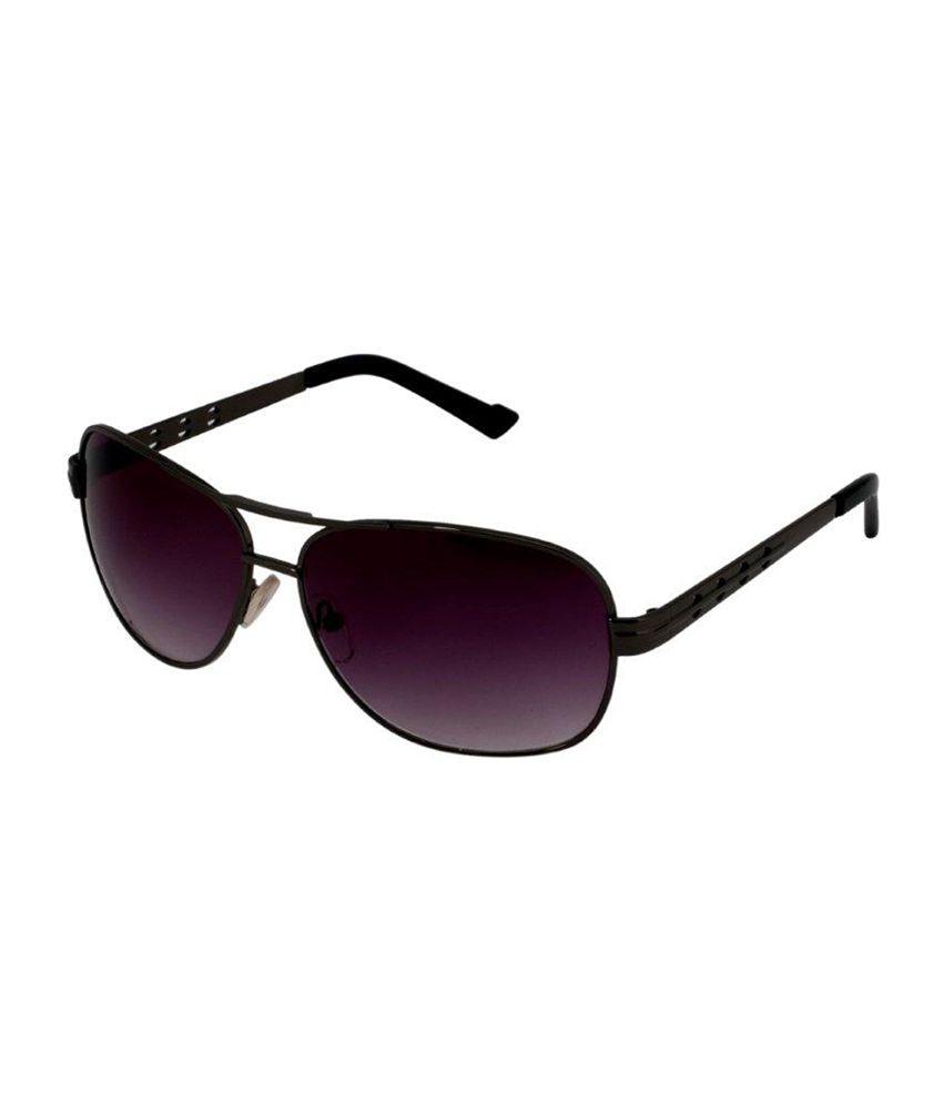 Gansta Purple Unisex Aviator Sunglasses (ZE-1007)