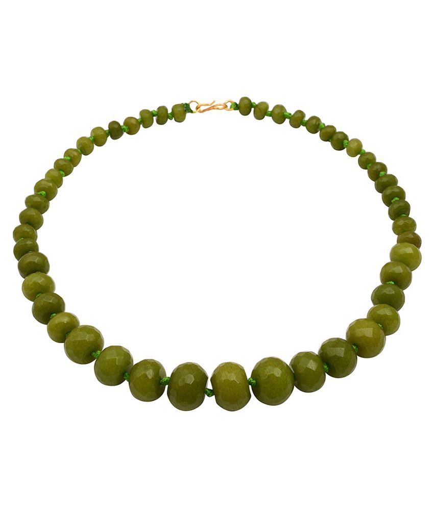 Gemstone Pioneer Green Style Diva Contemporary Necklace