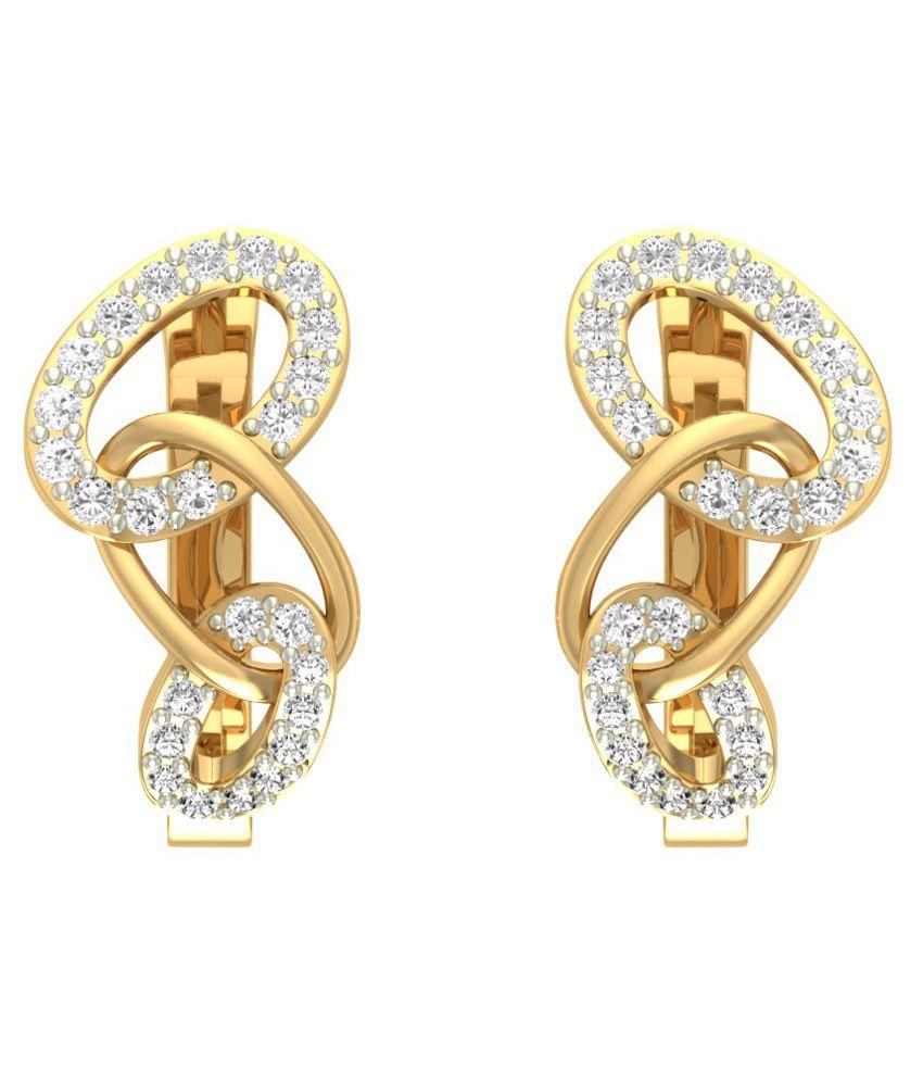 Jewels5 18kt Gold Retama Diamond Earrings