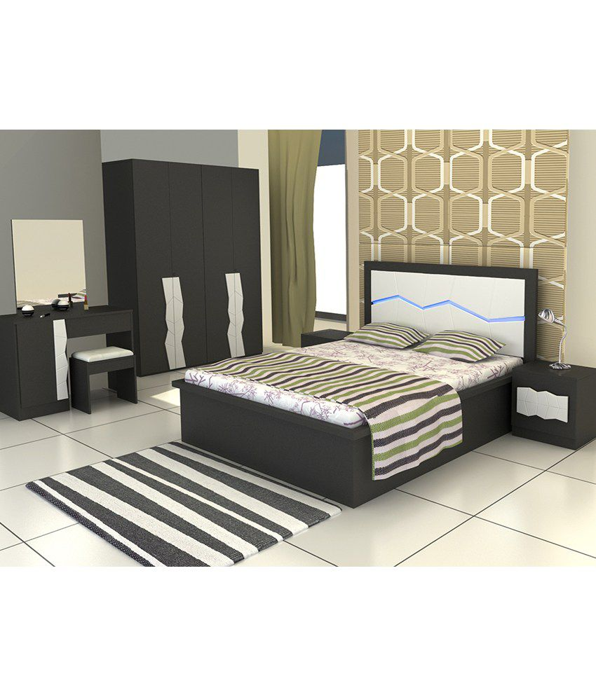 Bedroom Set With King Size in Black - Buy Bedroom Set With ...