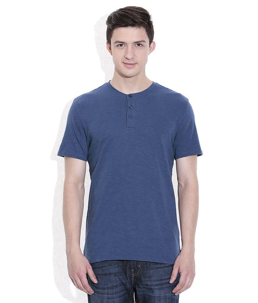 Levis Blue Basics Henley T-Shirt